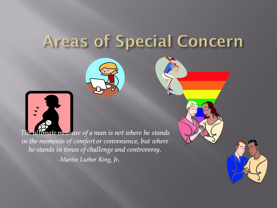 Areas of Special Concern
