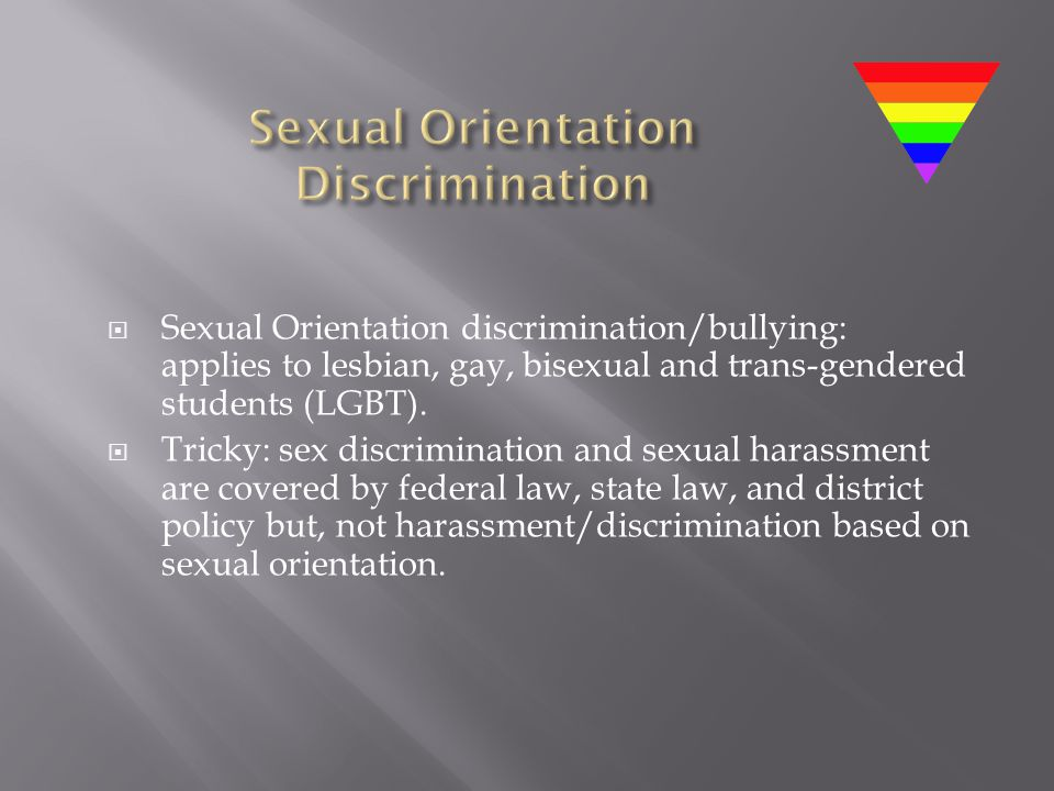 Sexual Orientation Discrimination