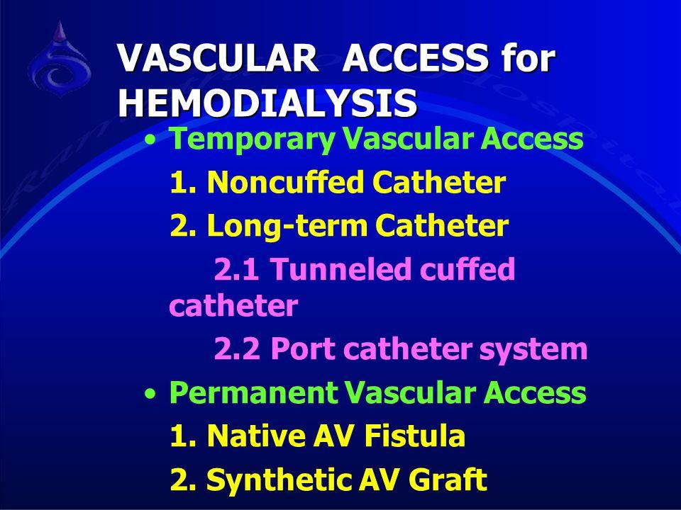 VASCULAR ACCESS for HEMODIALYSIS