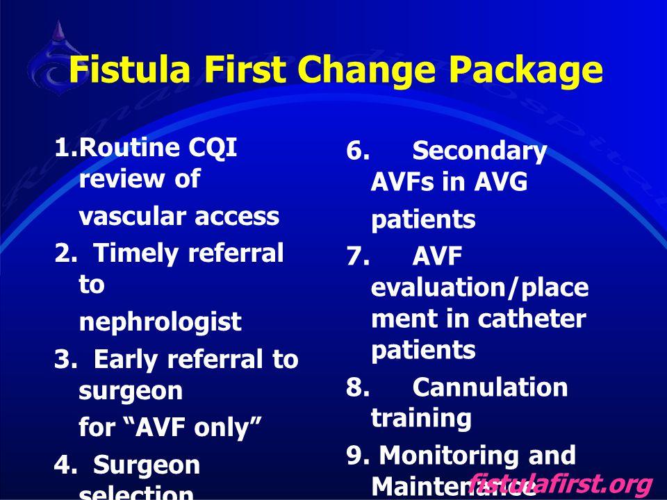 Fistula First Change Package