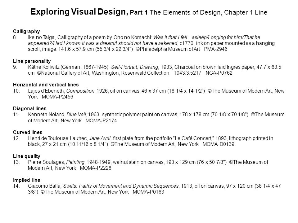 Exploring Visual Design, Part 1 The Elements of Design, Chapter 1 Line