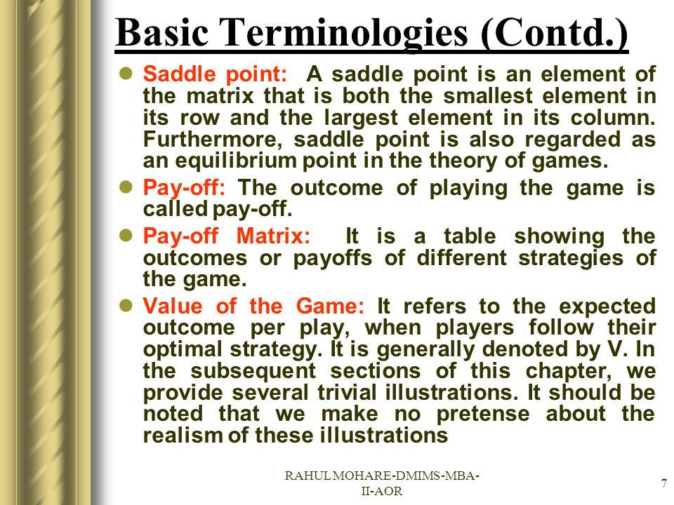 Basic Terminologies (Contd.)