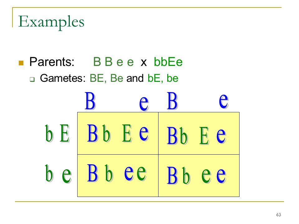 Examples B B e e b E B b E e B b E e b B b e e B b e e e