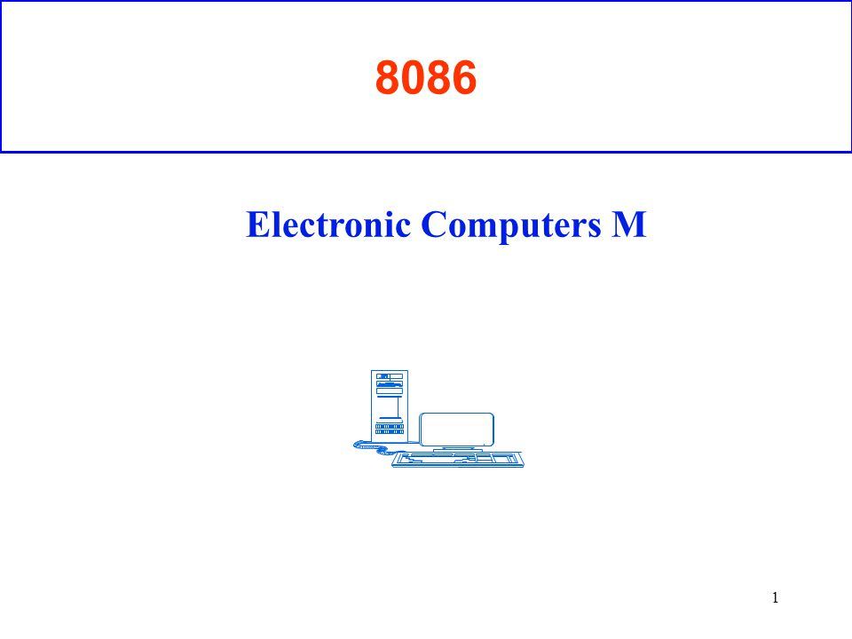 Electronic Computers M