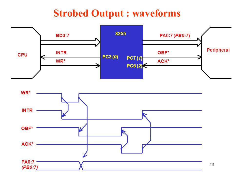 Strobed Output : waveforms