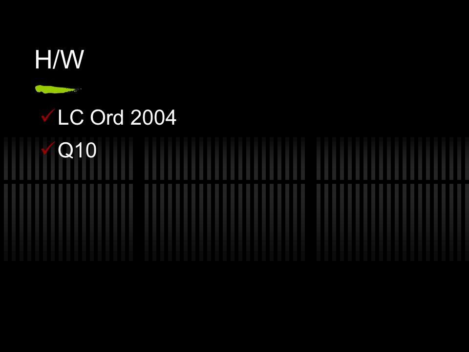 H/W LC Ord 2004 Q10