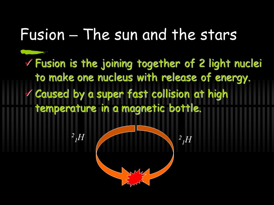 Fusion – The sun and the stars