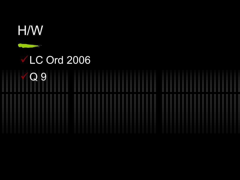 H/W LC Ord 2006 Q 9
