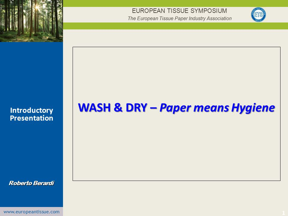 WASH & DRY – Paper means Hygiene Introductory Presentation