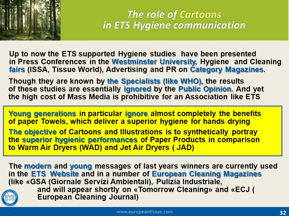 The role of Cartoons in ETS Hygiene communication