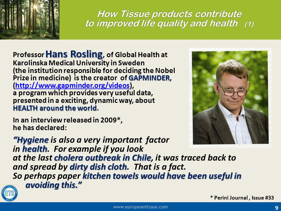 How Tissue products contribute to improved life quality and health (1)