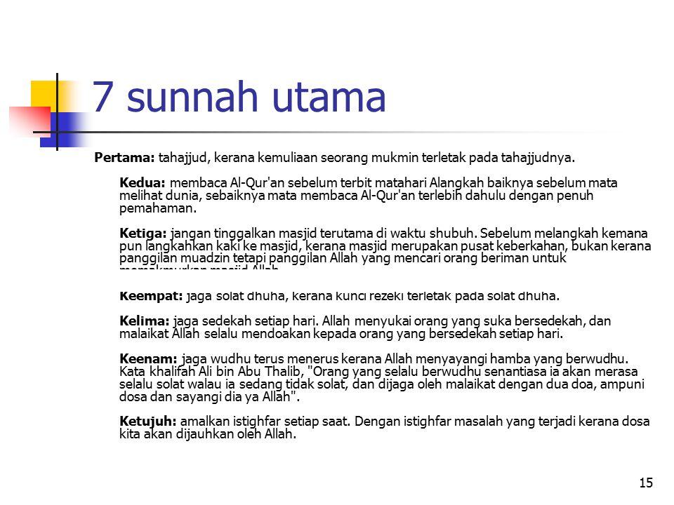 7 sunnah utama