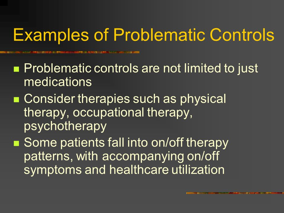 Examples of Problematic Controls