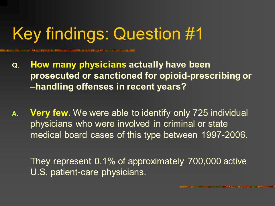 Key findings: Question #1