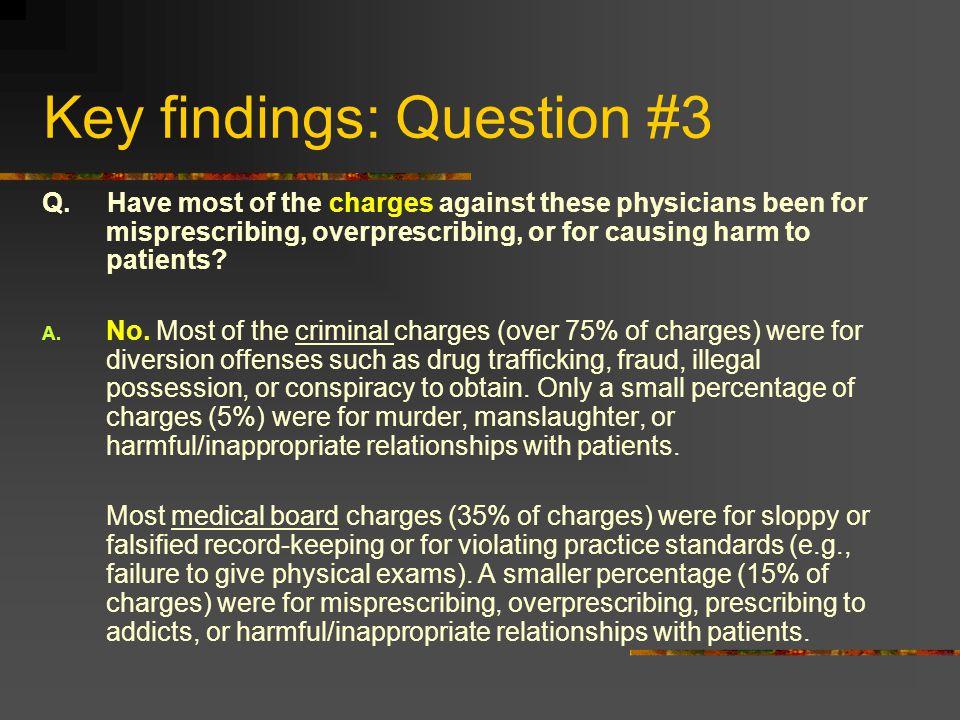 Key findings: Question #3