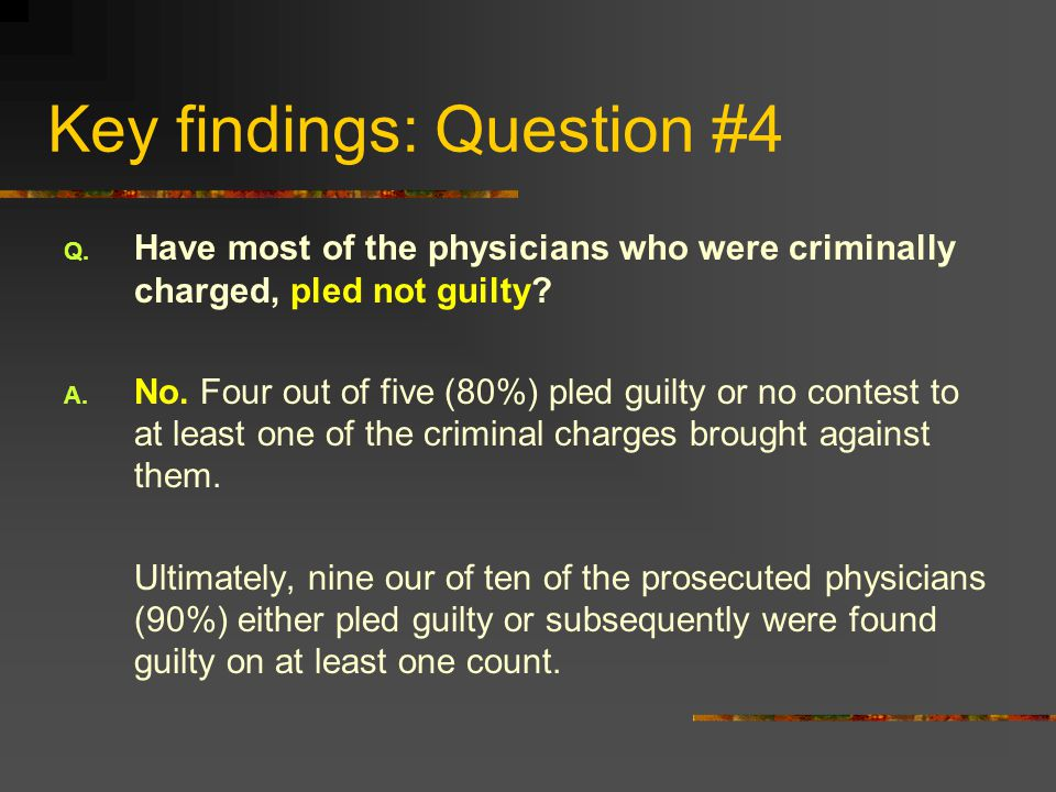 Key findings: Question #4