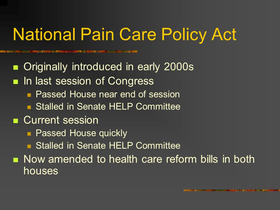 National Pain Care Policy Act