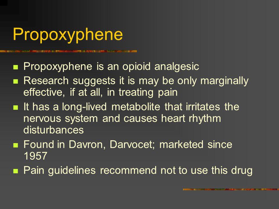 Propoxyphene Propoxyphene is an opioid analgesic