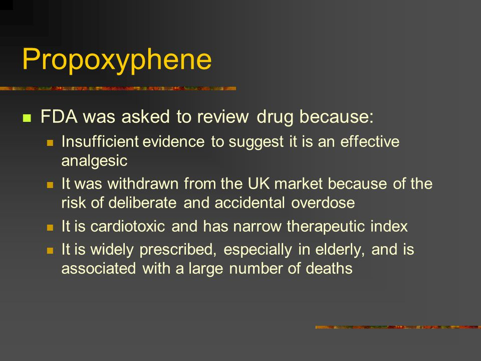 Propoxyphene FDA was asked to review drug because: