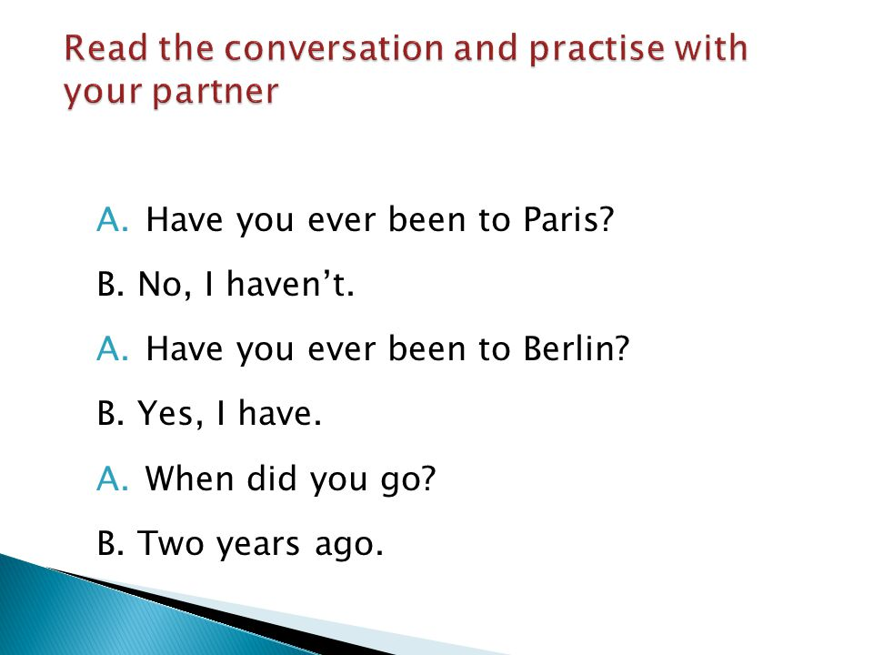 Read the conversation and practise with your partner