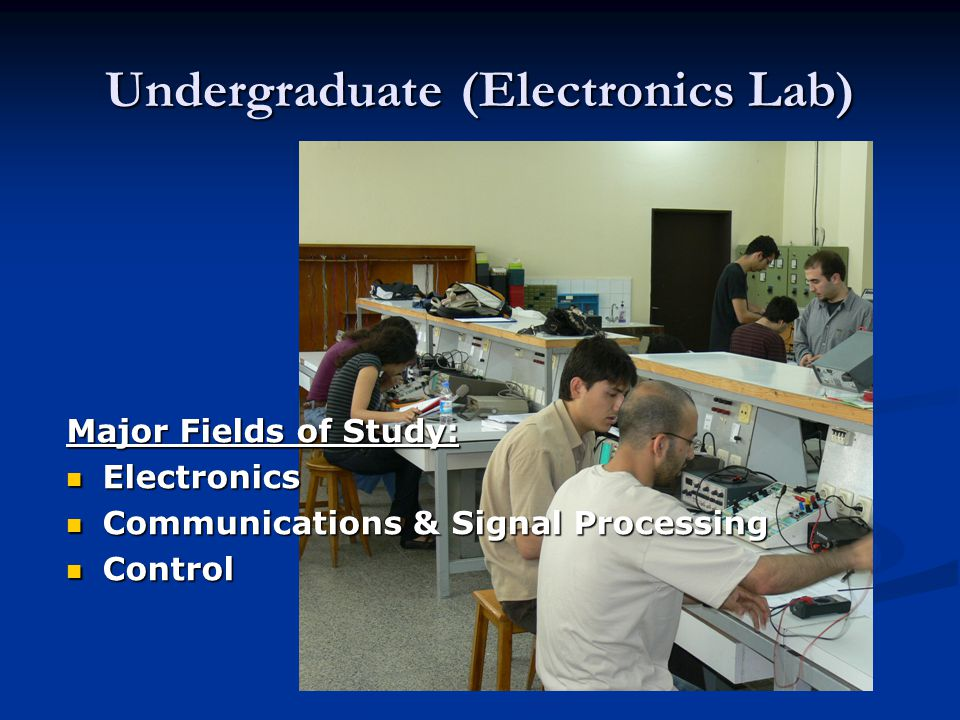 Undergraduate (Electronics Lab)