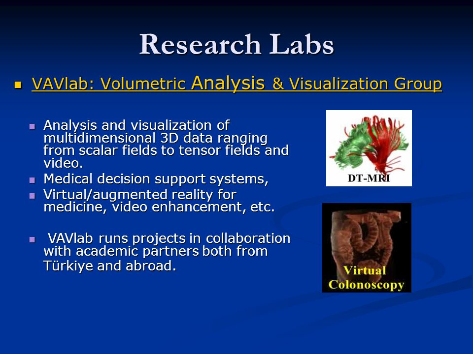 Research Labs VAVlab: Volumetric Analysis & Visualization Group