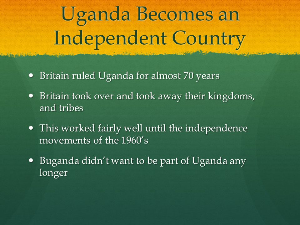 Uganda Becomes an Independent Country