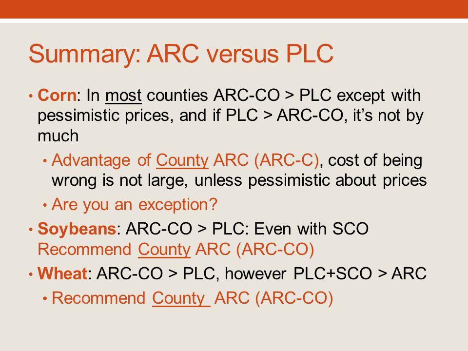 Summary: ARC versus PLC
