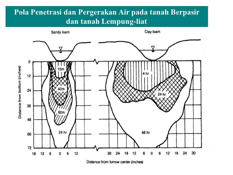 Pola Penetrasi dan Pergerakan Air pada tanah Berpasir dan tanah Lempung-liat