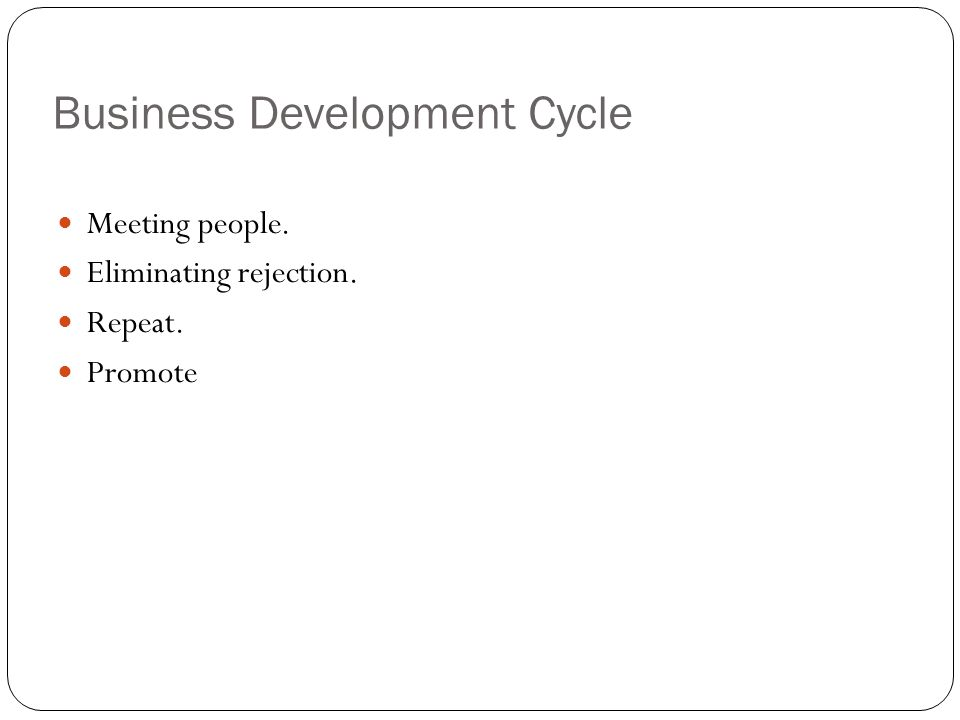 Business Development Cycle