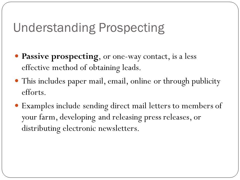 Understanding Prospecting