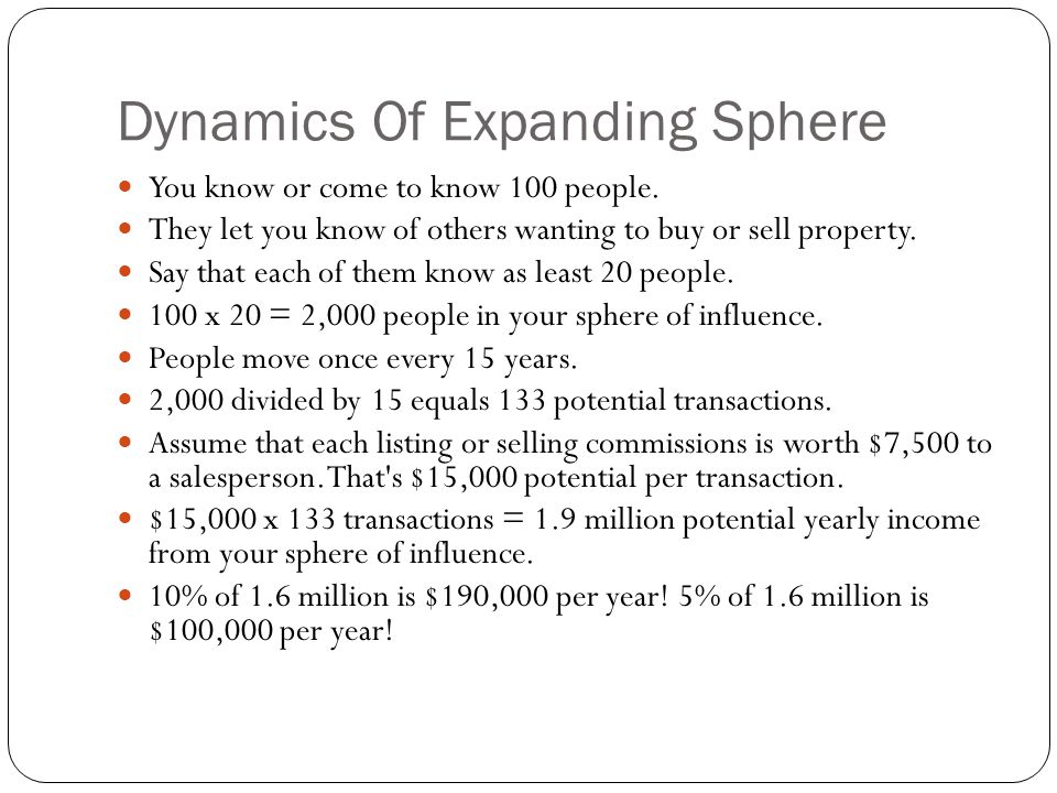 Dynamics Of Expanding Sphere
