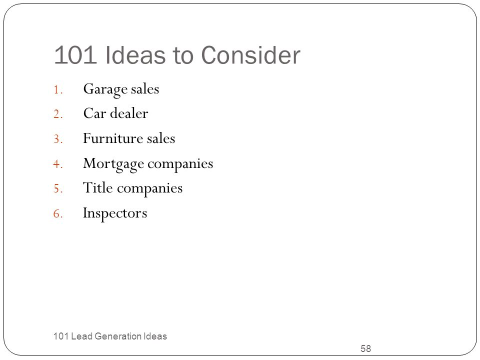 101 Ideas to Consider Garage sales Car dealer Furniture sales