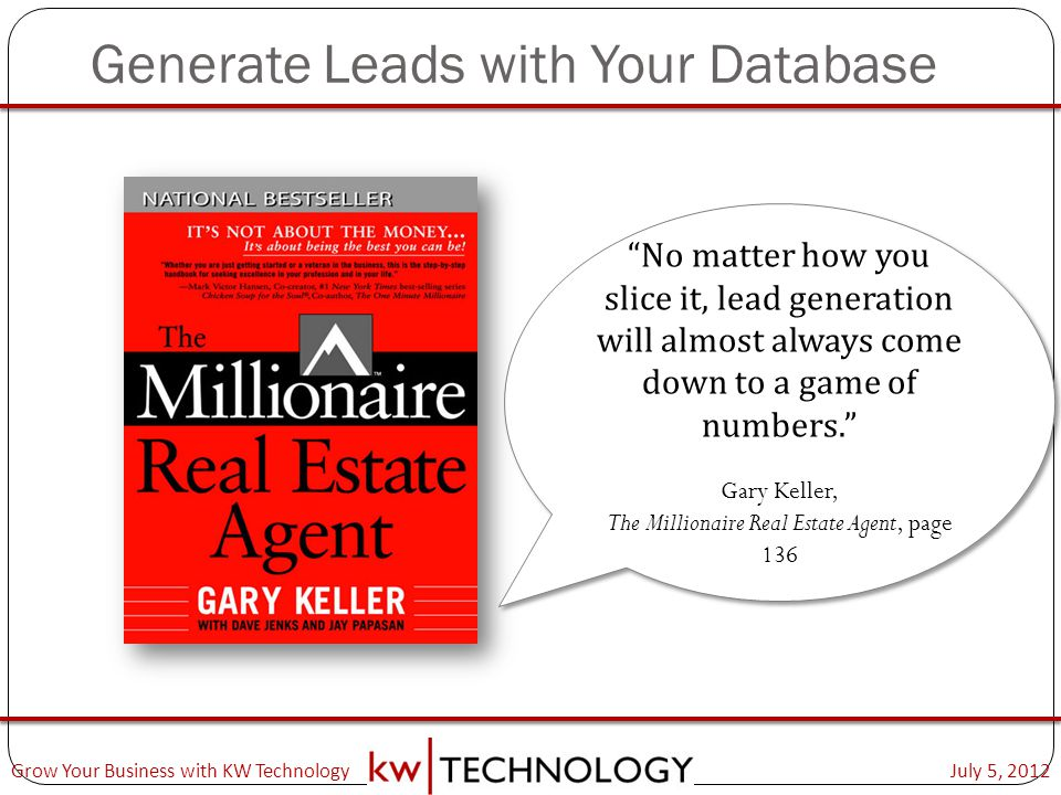 Generate Leads with Your Database