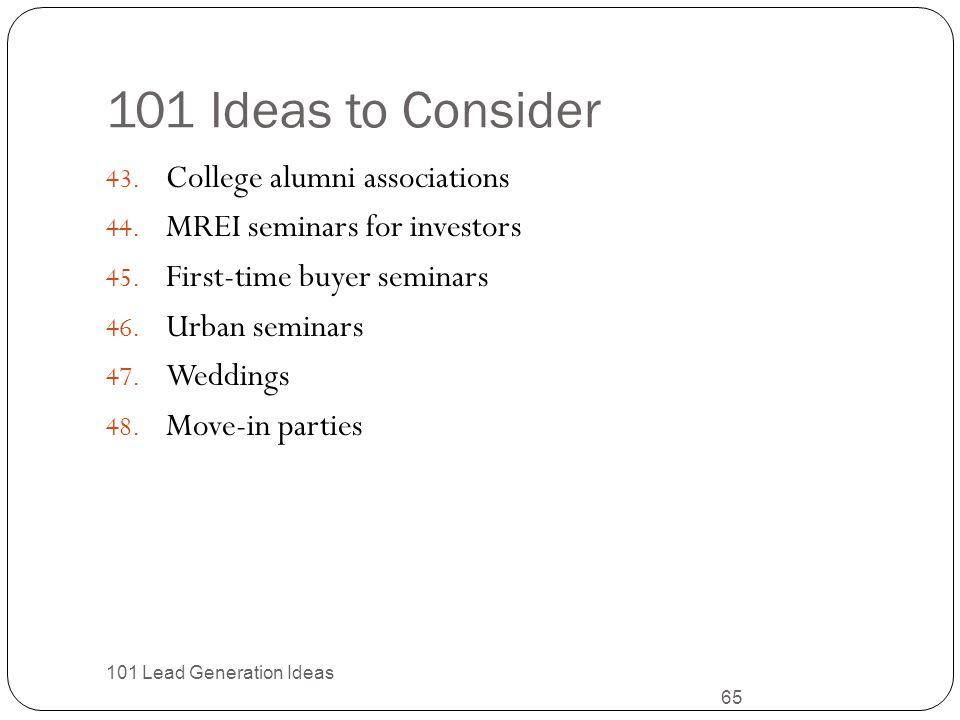 101 Ideas to Consider College alumni associations