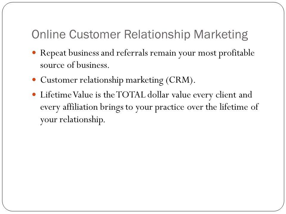 Online Customer Relationship Marketing