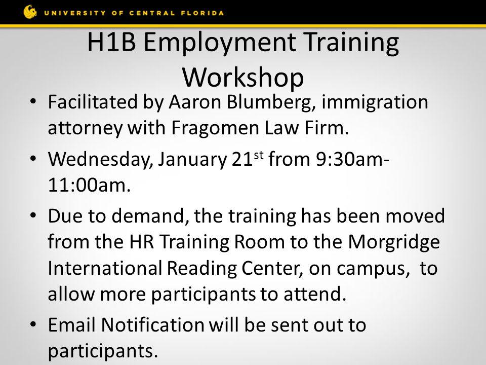 H1B Employment Training Workshop