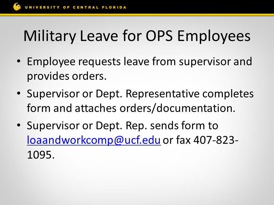 Military Leave for OPS Employees