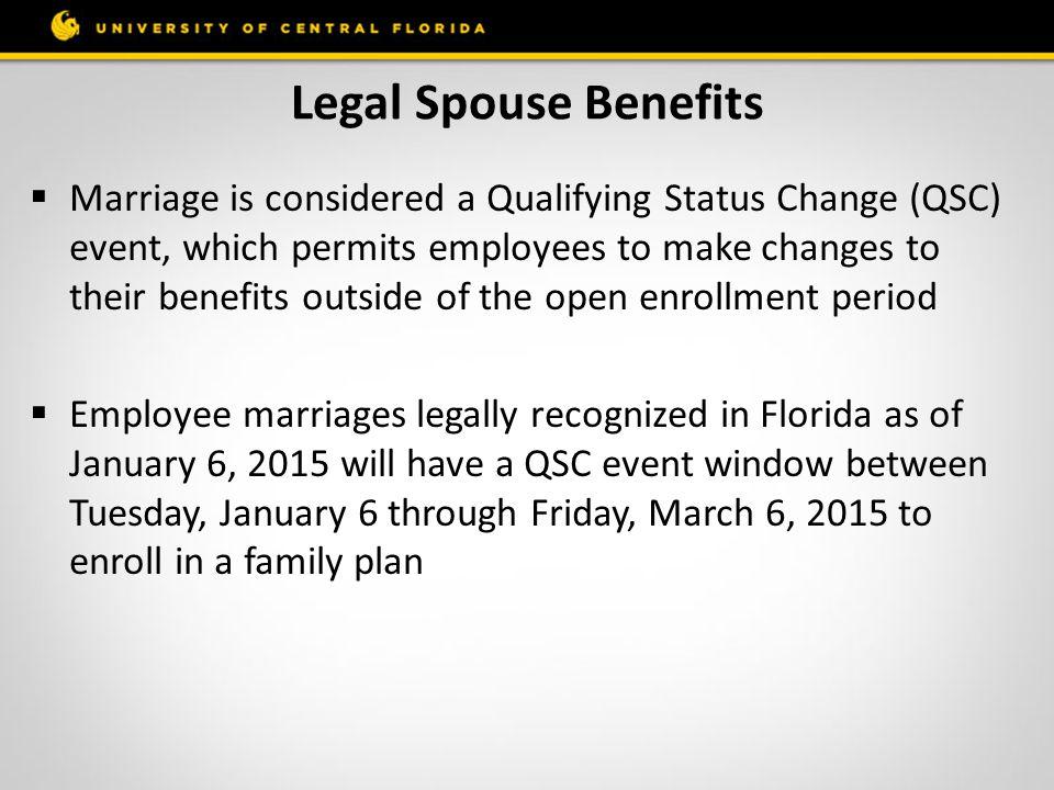 Legal Spouse Benefits