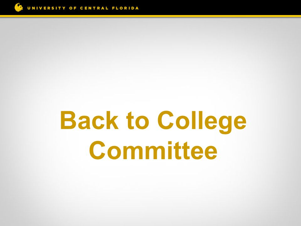 Back to College Committee
