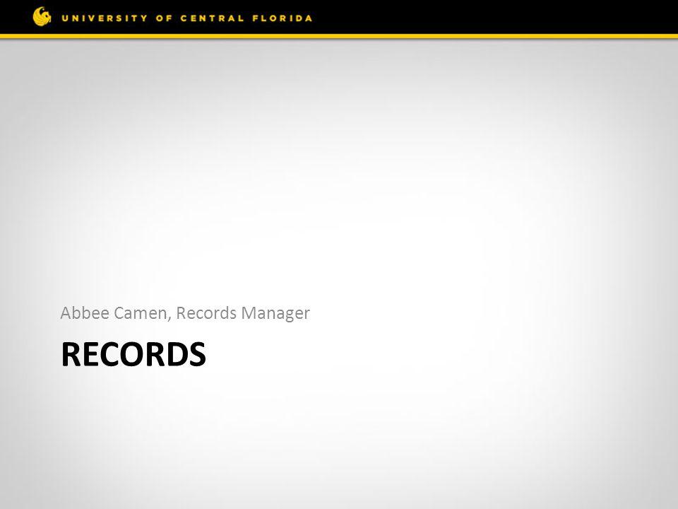 Abbee Camen, Records Manager