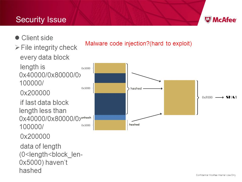 Security Issue Client side File integrity check every data block