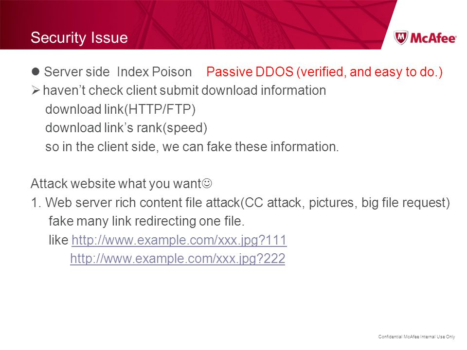 Security Issue Server side Index Poison Passive DDOS (verified, and easy to do.) haven't check client submit download information.