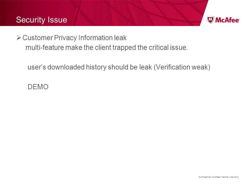Security Issue Customer Privacy Information leak