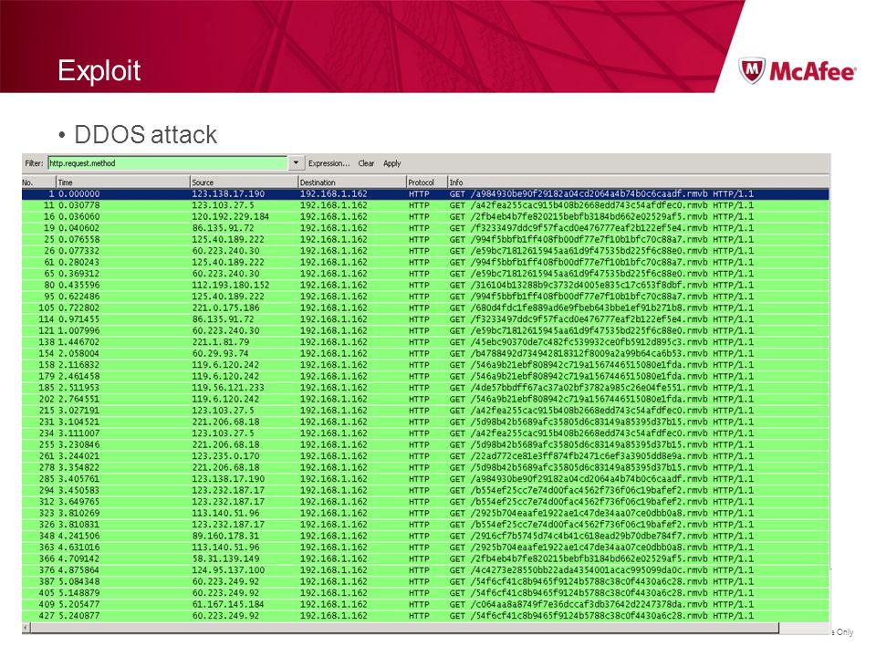 Exploit DDOS attack