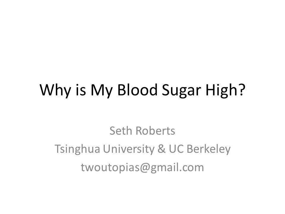 Why is My Blood Sugar High
