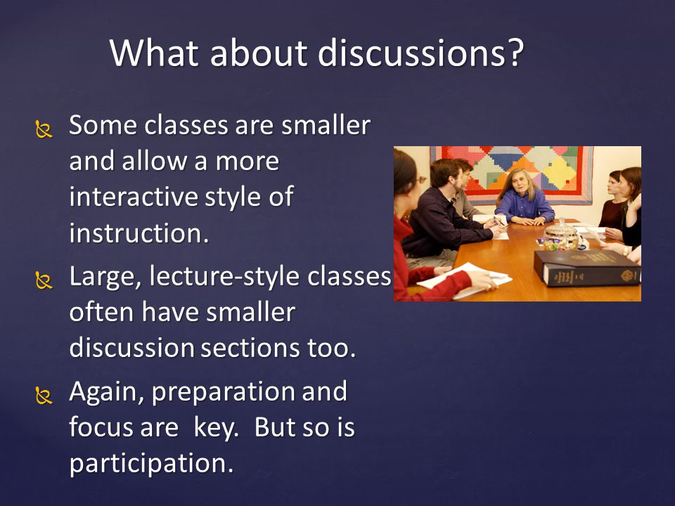 What about discussions