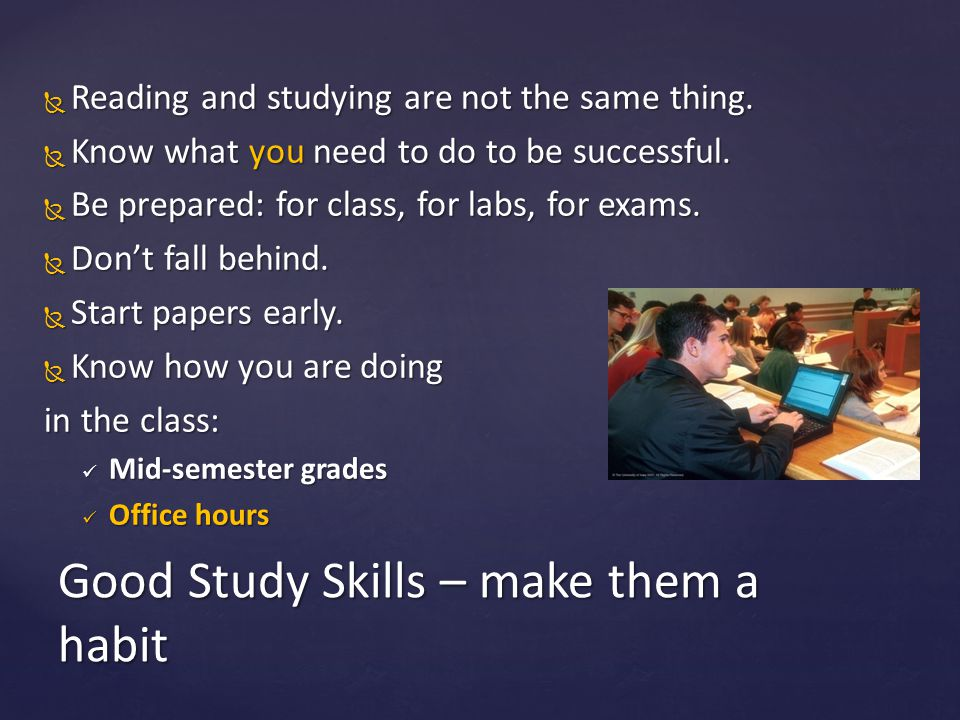 Good Study Skills – make them a habit