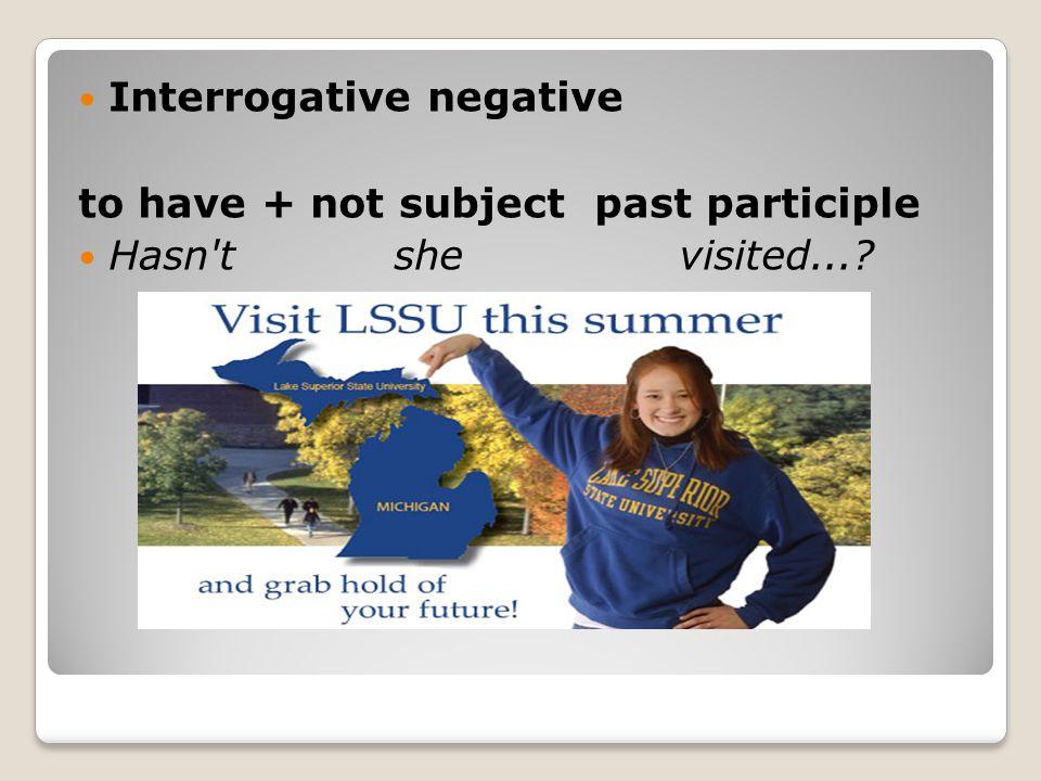 Interrogative negative