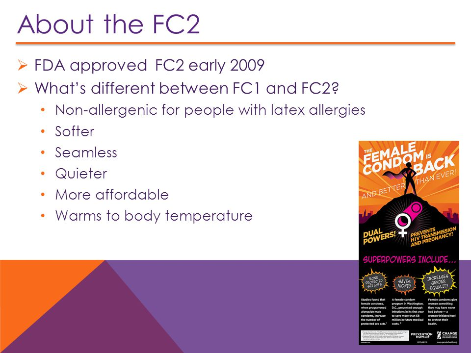 About the FC2 FDA approved FC2 early 2009